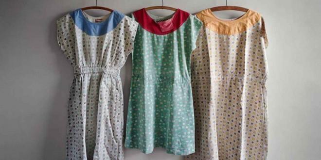 Изоставени рокли на пациентки